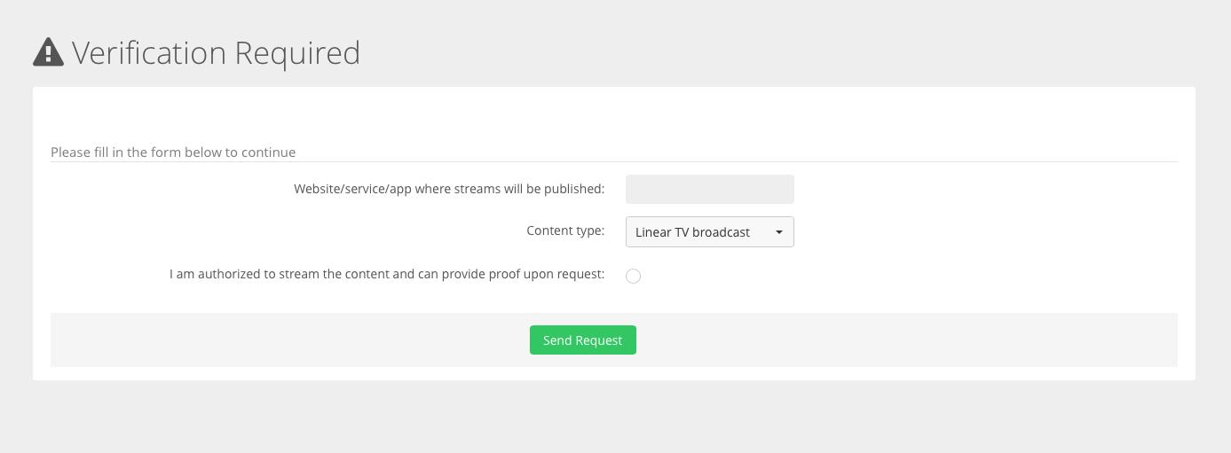 Streaming media access verification