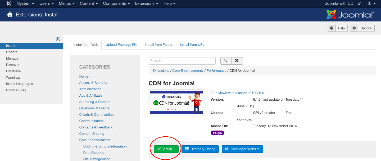 Accelerate Joomla with PUSHR CDN - Step 3