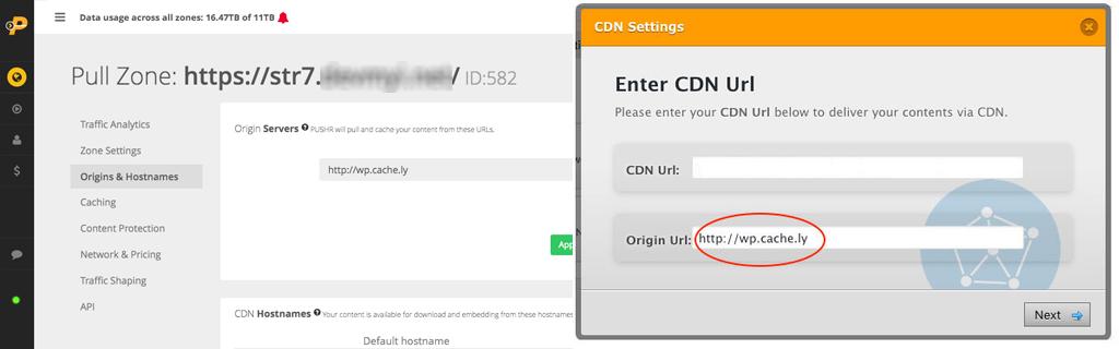 Accelerate Wordpress with PUSHR CDN - Step 3
