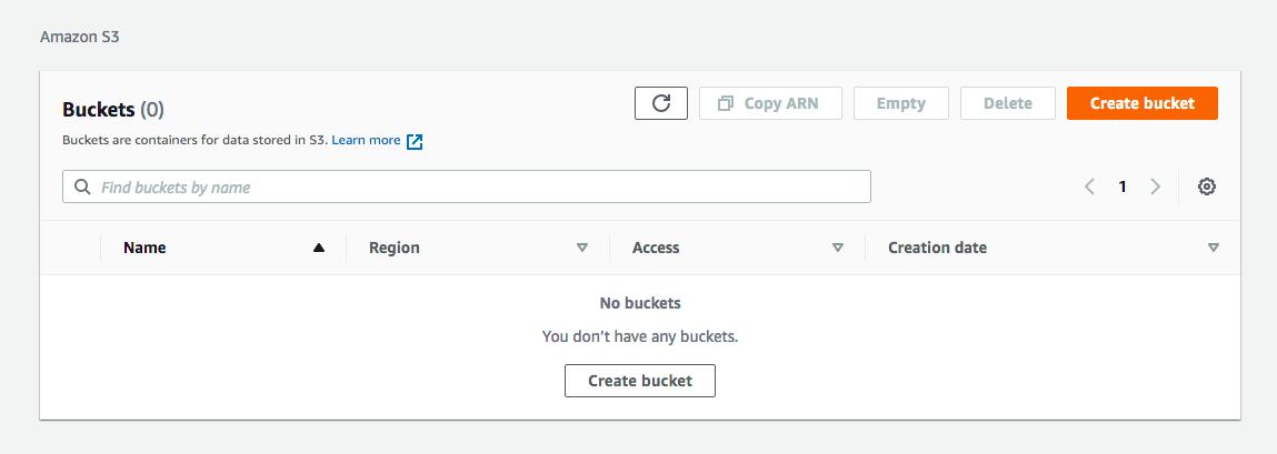 Create AWS S3 bucket