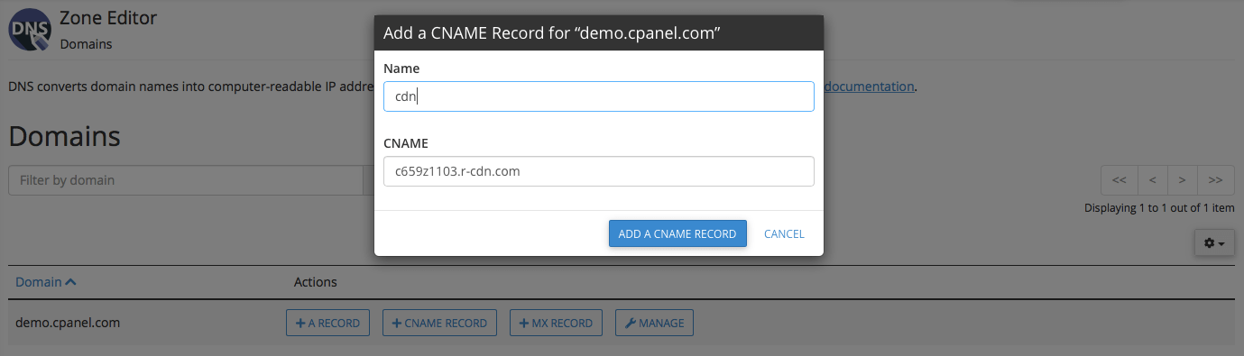 Setting a CNAME record in Cpanel - 3