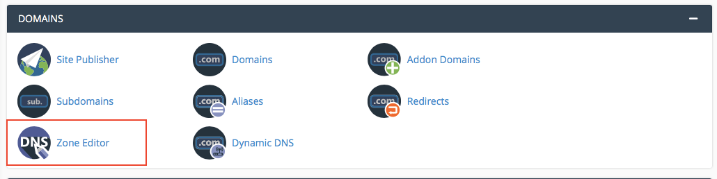 Creating a CNAME record inside Cpanel